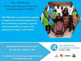 YALI Fellowship for 2019