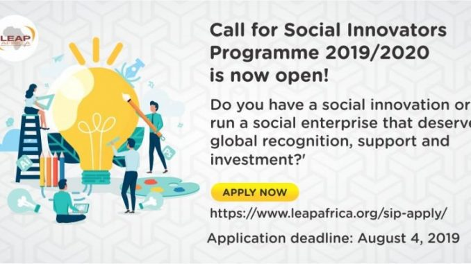 LEAP Africa's Social Innovators Programme and Awards (SIPA)
