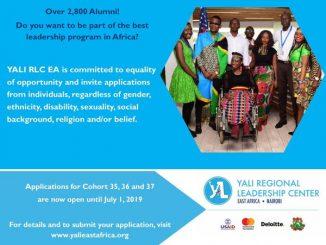 YALI Fellowship for 2019
