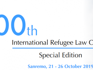 UNHCR 100th International Refugee Law Course 2019
