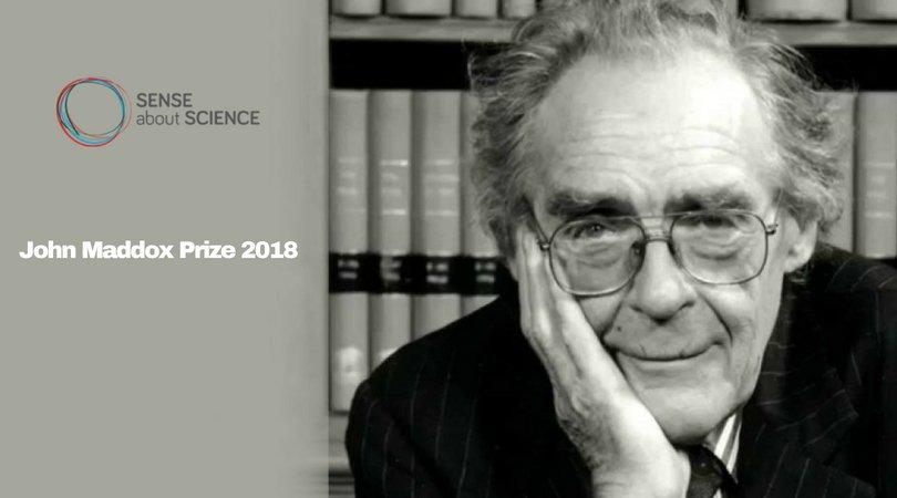 John Maddox Prize 2021