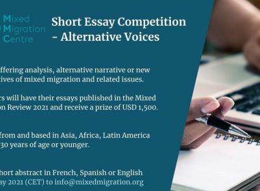 Mixed Migration Centre (MMC) Alternative Voices Short Essay Competition 2021